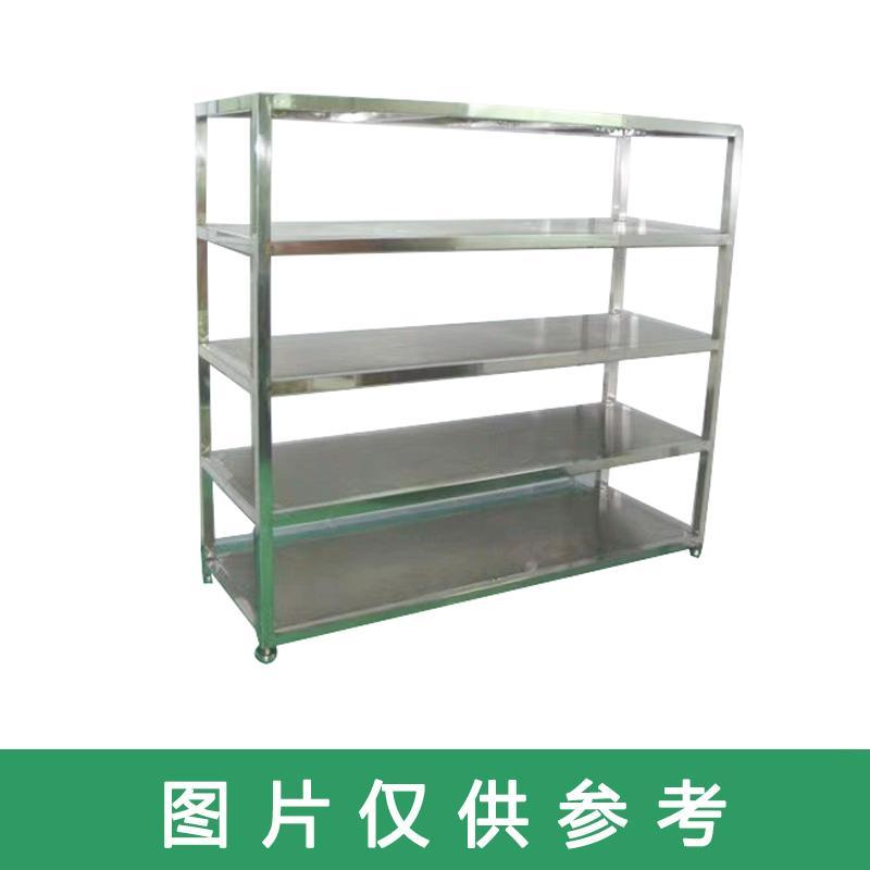 304不锈钢货架,尺寸mm:450*900*1800,四层,承重:300kg,方管焊死