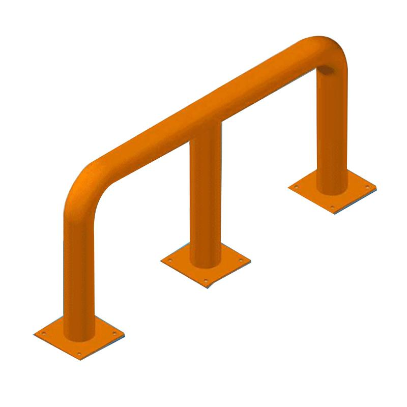 至腾 重型货架防撞栏,M型,产品尺寸(宽*深*高mm):L2200/2300*H500