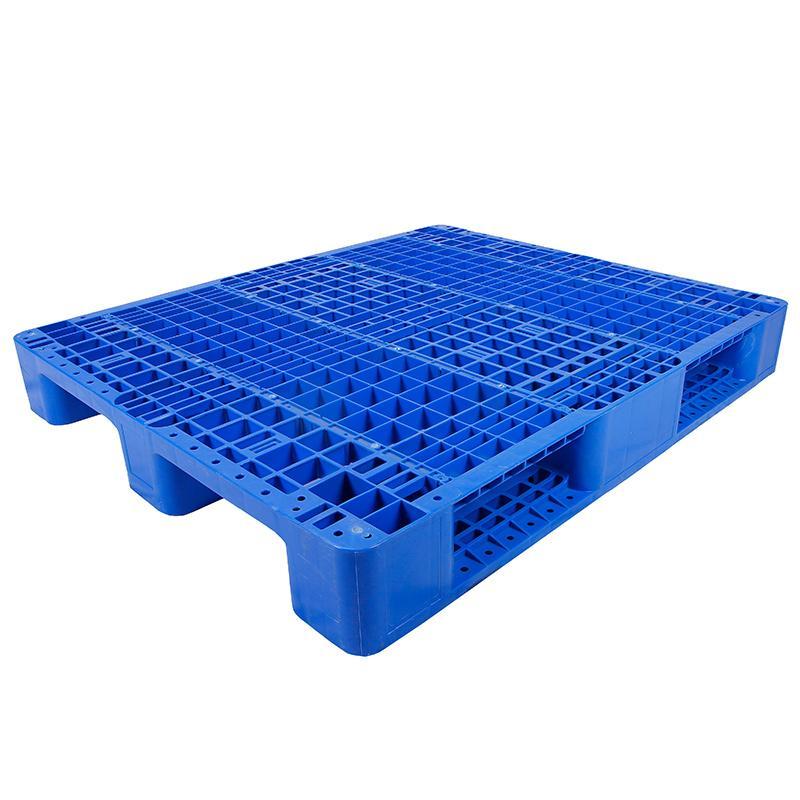 川字网格托盘(8根钢管),新料HDPE,1200*1000*150mm,静载6T,动载1.5T,货架载1.2T,蓝色