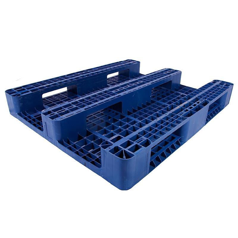 川字网格托盘(8根钢管),改性HDPE,1200*1000*150mm,静载5T,动载1.2T,货架载1T,蓝色