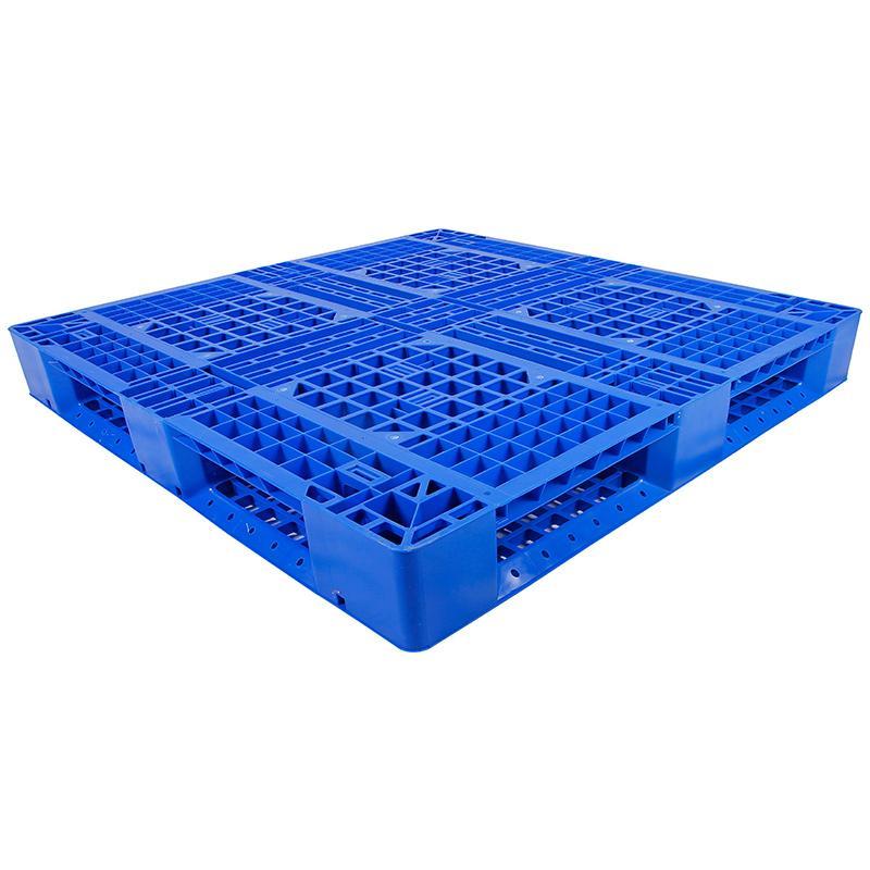 田字网格托盘(8根钢管),新料HDPE,1200*1000*150mm,静载6T,动载1.5T,TK1210TW-B8,蓝色