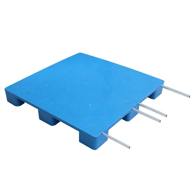 平板九脚托盘,尺寸:1100×1100×140mm,13.8kg,加4根钢管,PDJ1111C-B