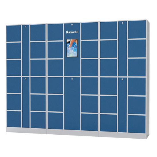 Raxwell 36门智能存储柜,微信登录,广域网连接,尺寸(长*宽*高mm):3000*500*1800