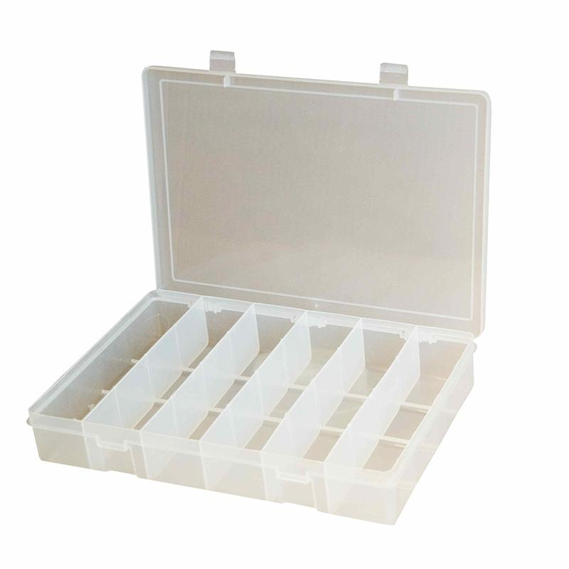 DURHAM MFG 18格透明小型塑料盒,279*171*44mm