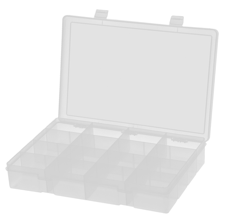DURHAM MFG 16格透明大塑料盒,333*229*59mm