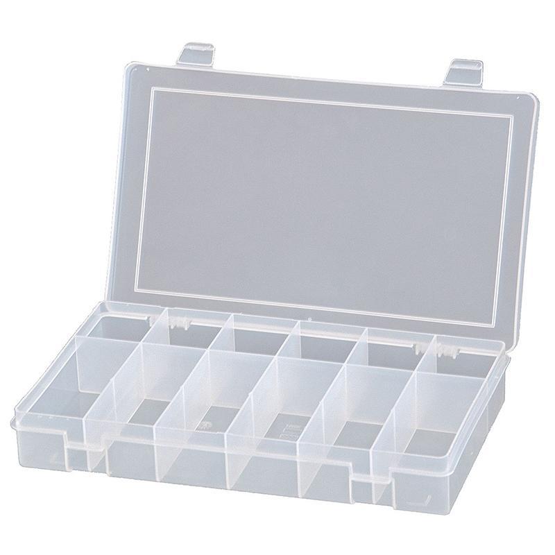 DURHAM MFG 12格偏离型小型塑料盒,279*171*44mm