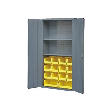 DURHAM MFG 存储柜,宽*深*高(mm):914*457*1829,含14个物料箱、2个搁板,搁板承重(KG):408