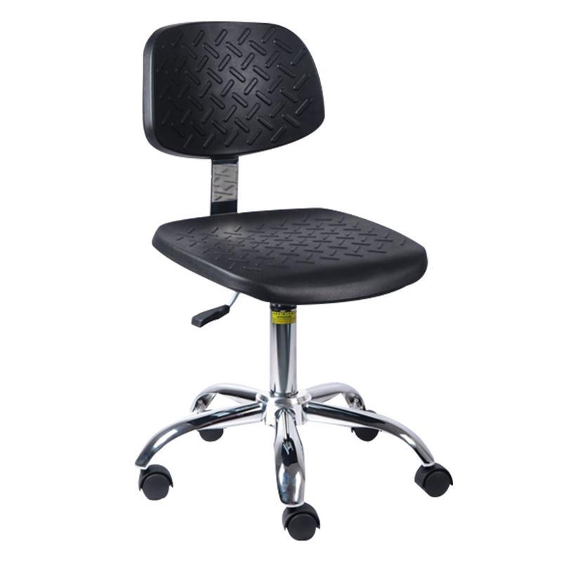 佰斯特 防静电聚氨酯工作椅,450-590mm 弹簧钢 防静电轮 椅面带防滑花纹(不含安装),Y-6A