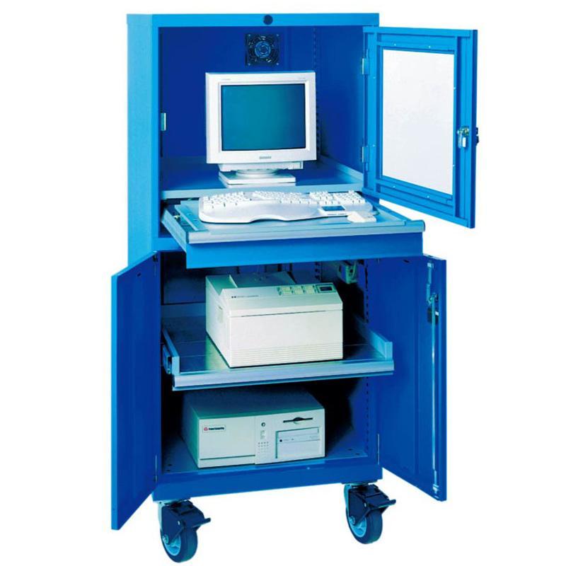 锐德 工业电脑柜,外形尺寸(mm):800W*650D*1750H 1层抽拉层板 聚氨酯脚轮,CPD-6