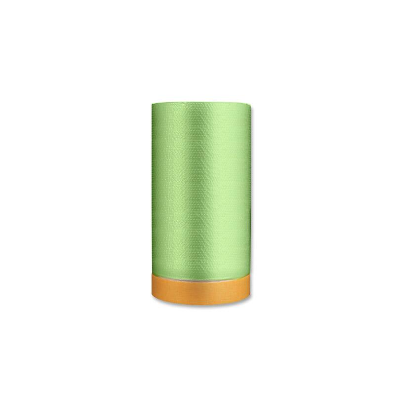 安赛瑞 加厚遮蔽膜保护膜,PE膜+和纸,1.1m×25m,黄色/绿色透明(卷),500100