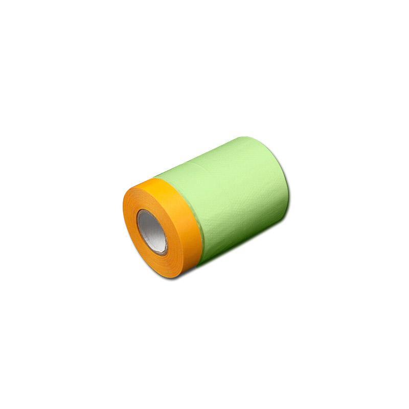 安赛瑞 加厚遮蔽膜保护膜,PE膜+和纸,55cm×25m,黄色/绿色透明(卷),500099