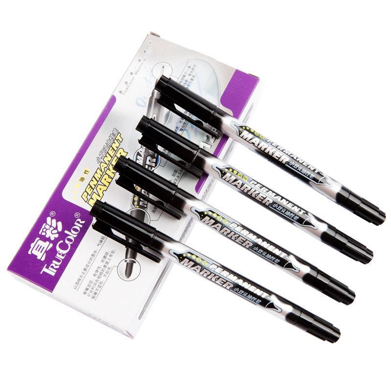 真彩 小双头油性笔, (黑色)0615B,12支/盒 单位:盒(替代:EDG454)