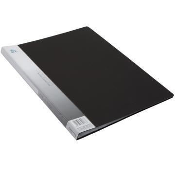 齐心 资料册,A4 20页 无衬纸 NF20AK(黑色) 单个