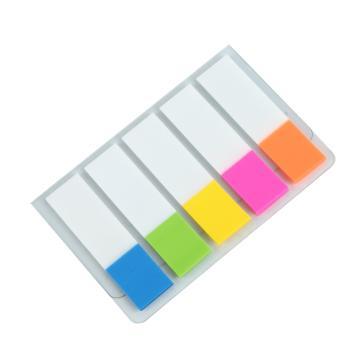 齐心 荧彩系列标签易事贴,D6018 X5色 颜色随机 单位:本