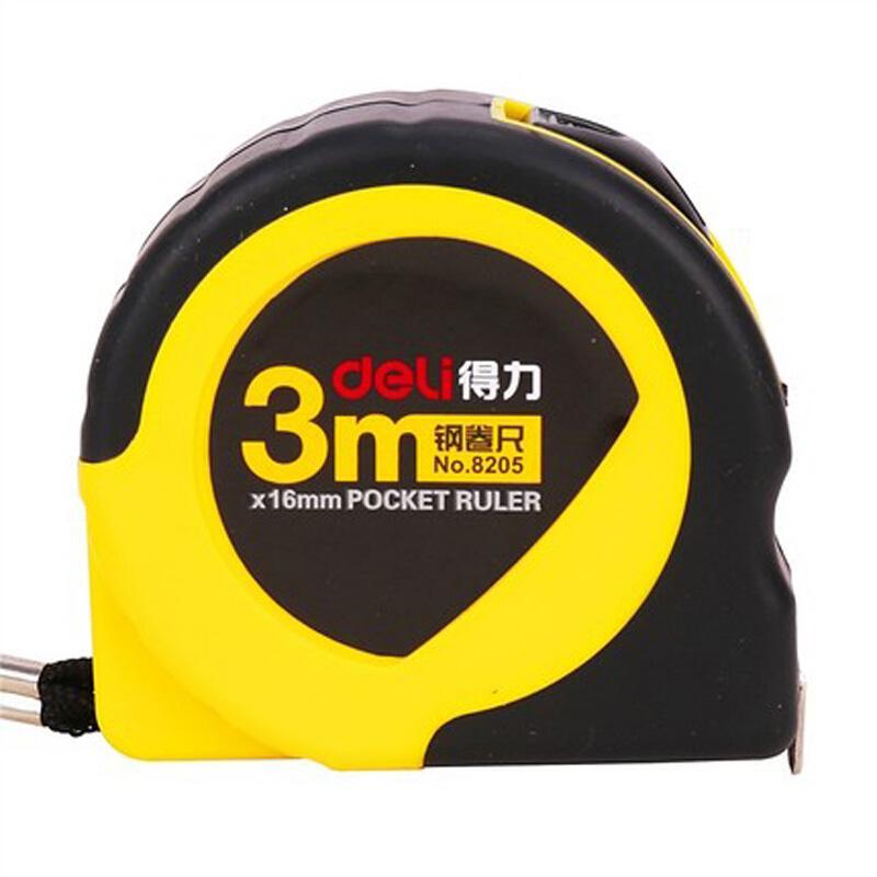 得力 钢卷尺,黄色,3米8205 单把