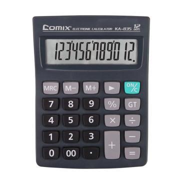 齐心 经济办公卡装计算器,KA-835 黑 单位:台