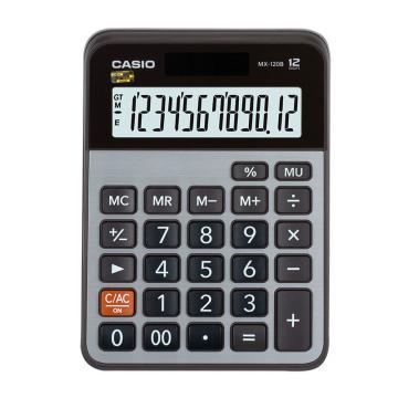 卡西欧 常规计算器,MX-120B灰色 单位:台