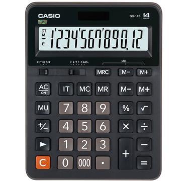卡西欧 常规计算器,GX-14B黑色 单位:台