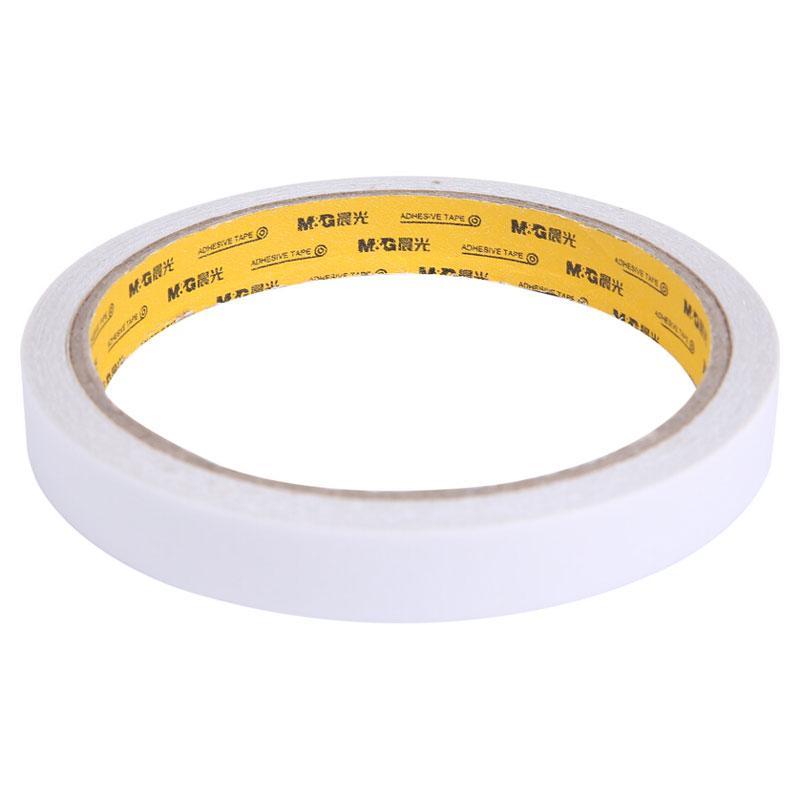晨光 M&G棉纸双面胶带,AJD97349 12mm*10y 2卷/袋 单位:袋