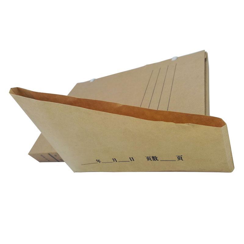 梯形档案专用无酸纸袋,6*21.5*21.5*7cm