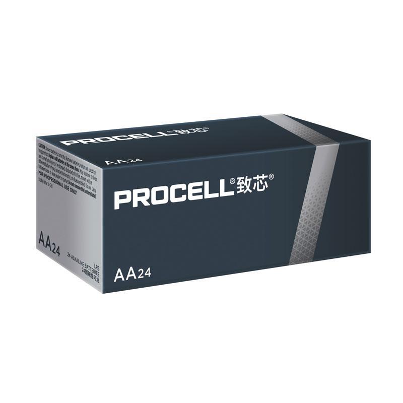 Procell致芯碱性电池,5号 AA 高性能,24粒/盒,单位:盒