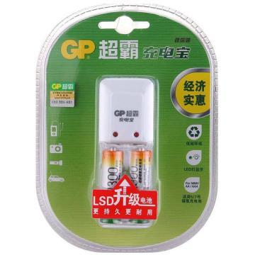 超霸 充电器, GPKB02GW2A(附2节5号镍氢充电电池) 单位:套