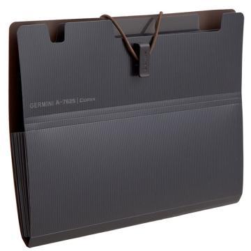 齐心 Gemini6袋风琴包,A7625 A4 深灰 单个