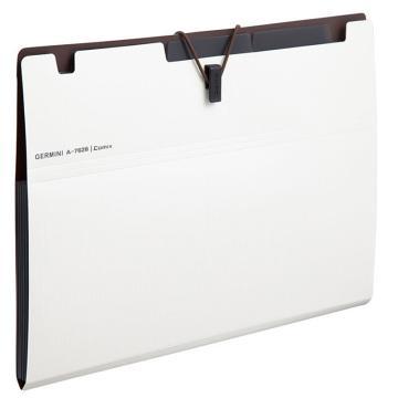 齐心 Gemini6袋风琴包,A7626 A5 白 单个