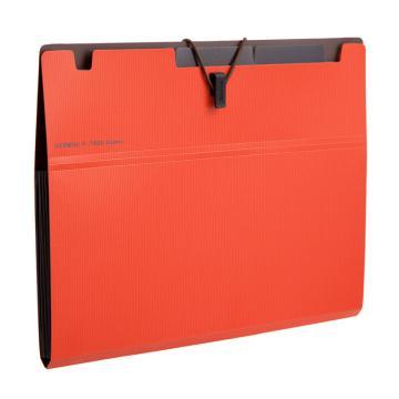 齐心 Gemini6袋风琴包,A7626 A5 橙 单个