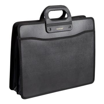 齐心 移动办公必备事务包,A1332 A4手提式 黑 单位:个