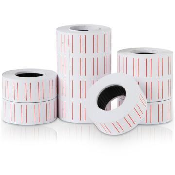 得力(deli) 通用单排标价纸,21.5×12mm 10卷/筒 3210 单位:筒