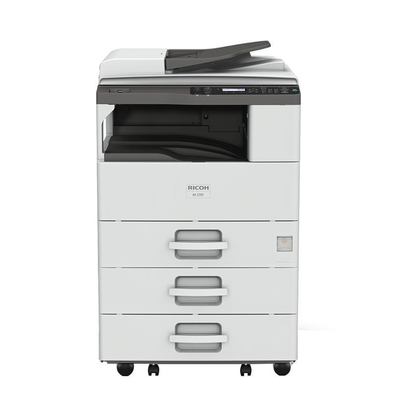 理光(Ricoh)黑白数码复合机,M 2701 A3(主机+送稿器+三纸盒)