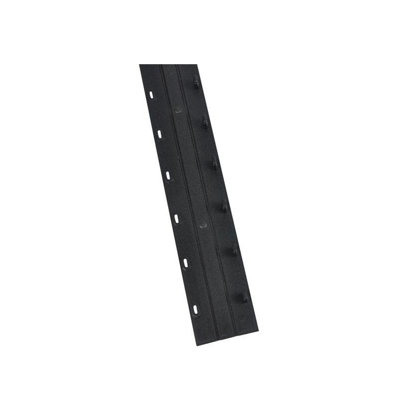 优玛仕 7.5mm 10孔装订夹条 黑色 100个/盒