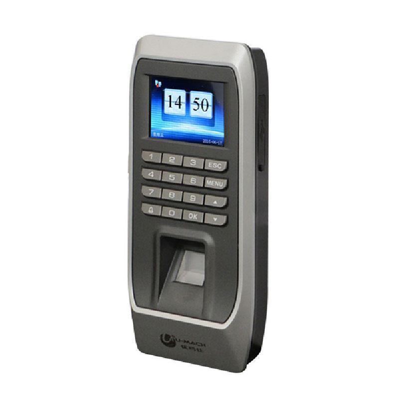 优玛仕 感应门禁考勤机一套,(含主机,电源,磁力锁,电插锁,出门按钮等)U-ZM5-T