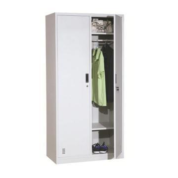 新明辉推荐 两门更衣柜,900宽*500深*1850高,灰白色,钢板厚度为0.8mm