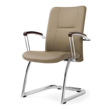 办公椅,尺寸94*60*65 米黄牛皮(散件不含安装)