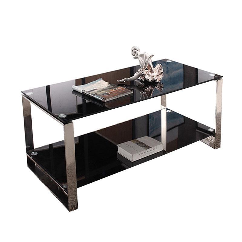 玻璃长茶几款式一,DT-sf023 钢化玻璃1200*600*450 黑色