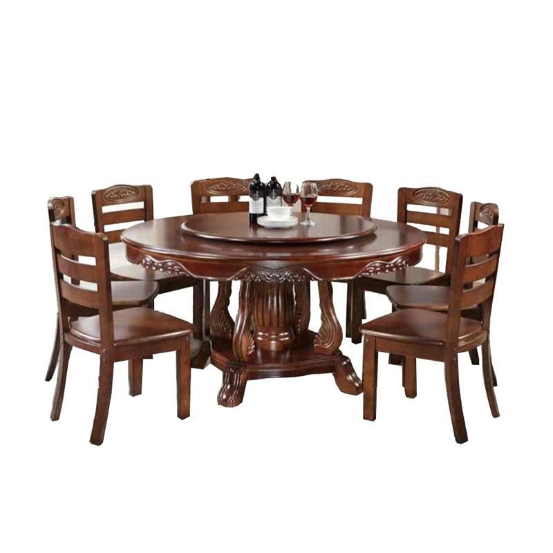 餐桌,直径1.8米带转盘的圆桌(不含椅子)