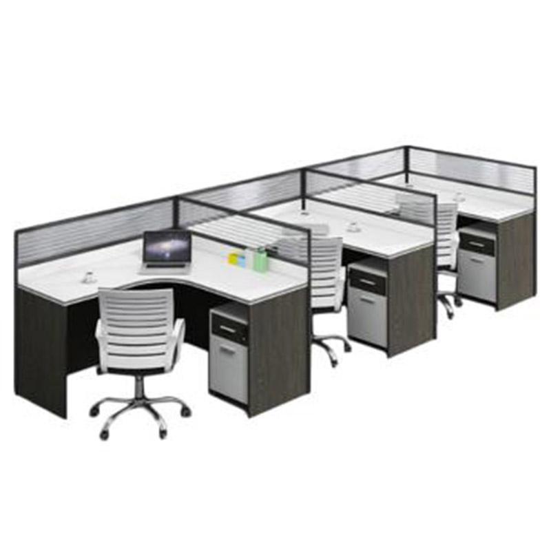 三人办公桌,1600*1500*1200,一套三位