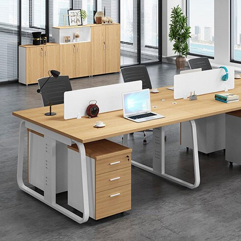 沪飞 办公桌, 双人位(含柜), 枫木色