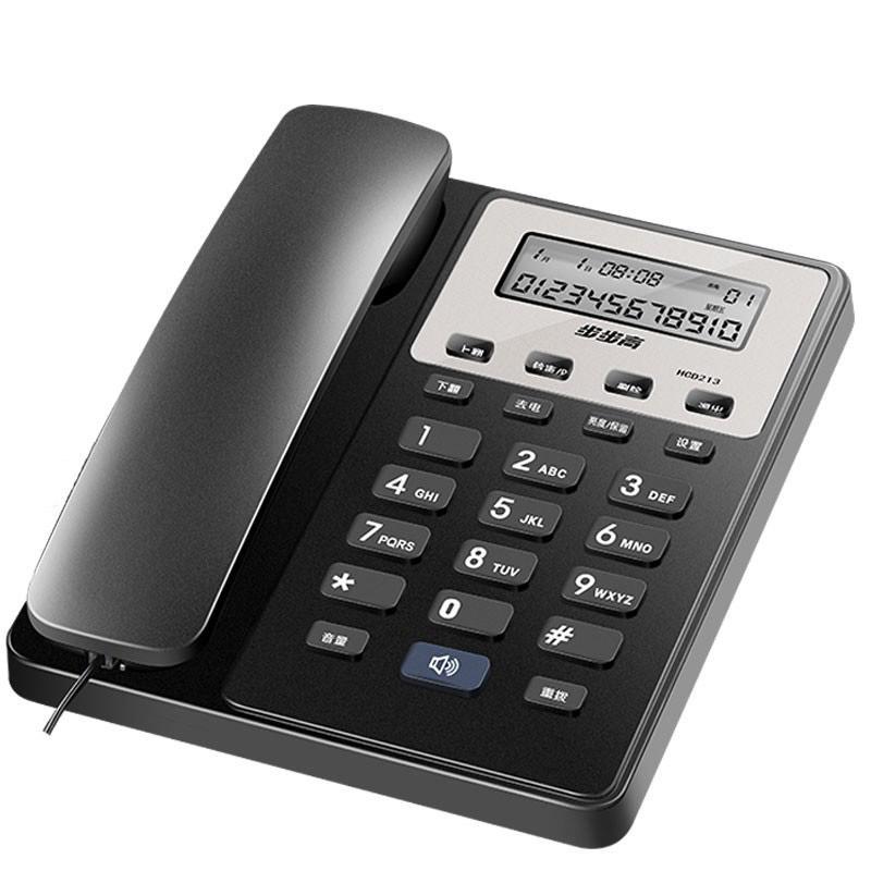 步步高来电显示电话机,213 单位:台 黑色