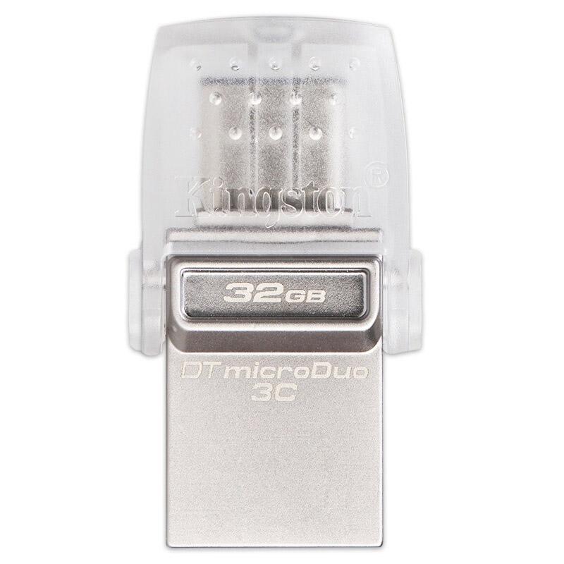 金士顿U盘,32GB Type-C USB3.1 U盘 DTDUO3C 双接口设计 支持苹果MacBook