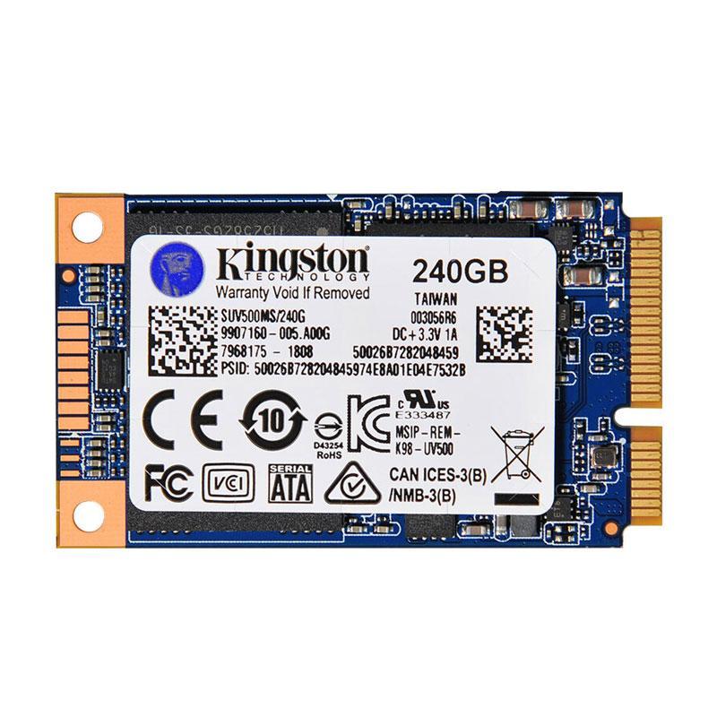 金士顿硬盘,UV500系列 240G MSATA 固态硬盘