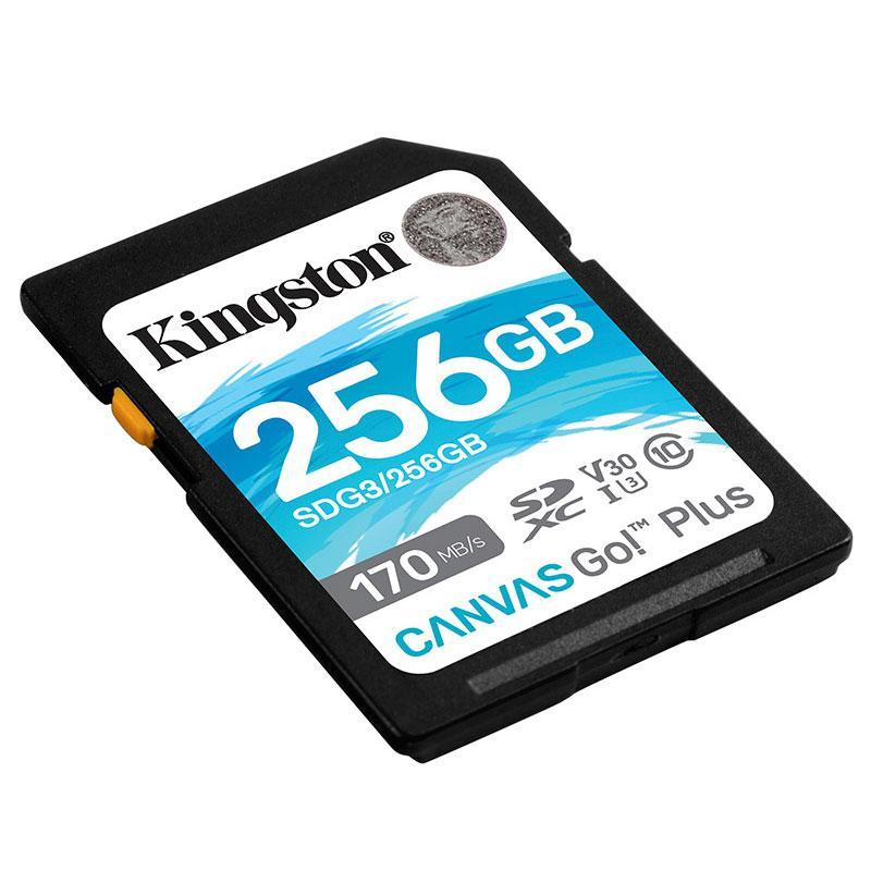 金士顿存储卡,SDG3 256GB U3 V30 SD卡 极速版 读速170MB/s 写速90MB/s 4K超高清视频 终身保固