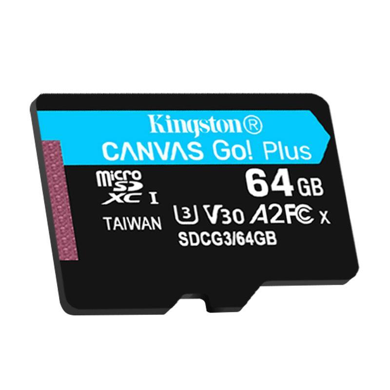 金士顿存储卡,SDG3 64GB U3 V30 A2 4K 极速版 TF(Micro SD)存储卡 读速 170MB/s 写速70MB/s