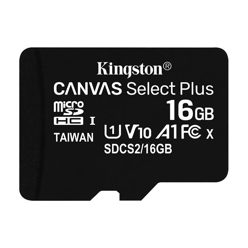 金士顿存储卡,SDCS2 16GB 读速100MB/s U1 A1 V10 TF(MicroSD)存储卡 高品质拍摄