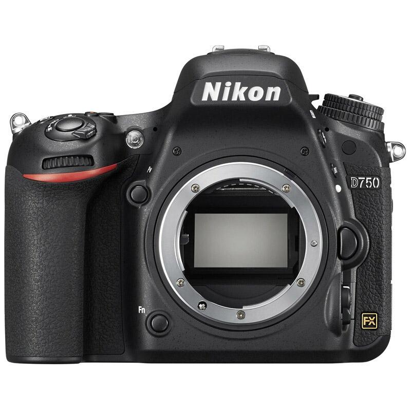 尼康D750机身单反相机,进阶款全画幅 单反机身 d750(约2,432万有效像素 可翻折屏 内置WiFi)