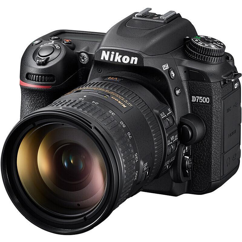 尼康D7500单反数码照相机,套机(AF-S DX NIKKOR 18-200mm f/3.5-5.6G ED VR 防抖镜头)