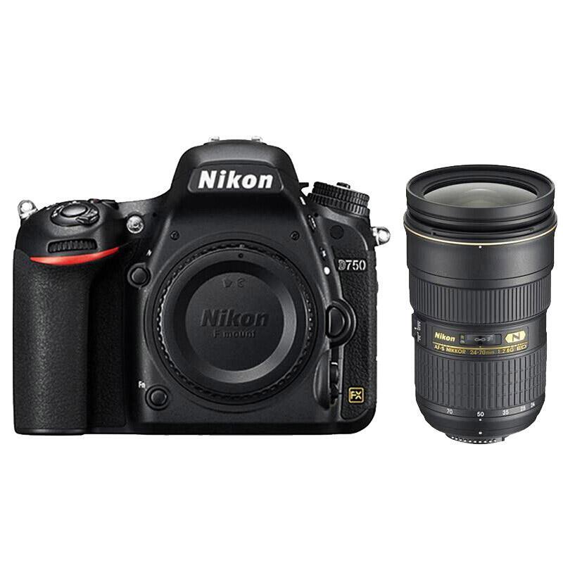 尼康D750单反数码照相机,全画幅套机(AF-S 24-70mm f/2.8G ED 镜头)
