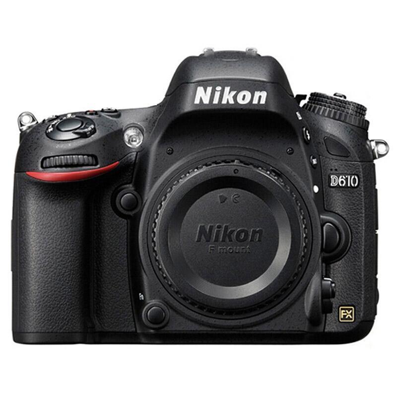尼康D610机身单反相机,入门级全画幅机身 d610(约2,426万有效像素 39点自动对焦 轻巧便携)